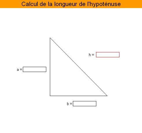 Calcul de l'hypoténuse