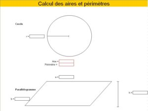 Calcul des aires et périmètres