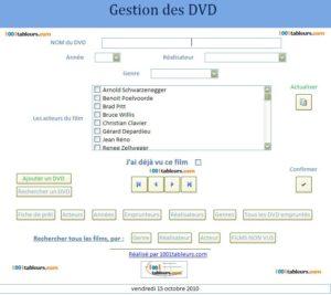 Gestion des DVD